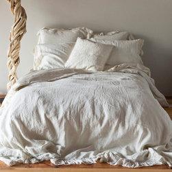 Bella Notte Duvet Cover Whisper Linen - For my dream beach house master bedroom, I would have Belle Notte's Whisper Linen bedding. It's so light and airy.