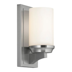 Murray Feiss - Murray Feiss Amalia Transitional Wall Sconce X-SB2271BW - Inspired by a vintage shelf candle holder, the Amalia Collection creates the transitional column candle look with a sleek, smooth profile which hides all hardware. The cylindrical, glass shade sits atop the tapered shelf detail.