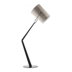 """Diesel - Diesel Fork Floor Lamp - The Fork floor lamp has been designed by Diesel in 2009 and made in Italy by Foscarini. Inspired by casual fashion, the lampshade of this new lamp reminds us of informal fabrics such as tent canvas, creating a playful and dynamic lifestyle. When illuminated, the light reveals a patchwork structure and the texture of the canvas. The warm light of fork is perfect for the home and also ideal for the office.  Product Details: The Fork floor lamp has been designed by Diesel in 2009 and made in Italy by Foscarini. Inspired by casual fashion, the lampshade of this new lamp reminds us of informal fabrics such as tent canvas, creating a playful and dynamic lifestyle. When illuminated, the light reveals a patchwork structure and the texture of the canvas. The warm light of fork is perfect for the home and also ideal for the office. Details:                                     Manufacturer:                                      Diesel by Foscarini                                                     Designer:                                     Foscarini                                                     Made in:                                     Italy                                                     Dimensions:                                      H: 73 1/32"""" (186 cm) X D: 13"""" (33 cm)                                                      Light bulb:                                      1 X 150W RSC type T3 Halogen                                                     Material:                                      Fabric and Anodized metal"""