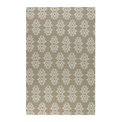 Uttermost - Uttermost Saint George 8 x 10 Rug - Natural 71026-8 - Woven Beige Wool With Off-white Details.