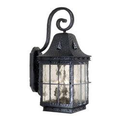Vaxcel Lighting - Vaxcel Lighting ED-OWD090 Edinburgh 3 Light Outdoor Wall Sconce - Features:
