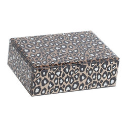 Mele Jewelry - Mele and Co. Candy Mirrored Glass Jewelry Box with Leopard Design - Mele Jewelry - Jewelry Boxes - 00169F13