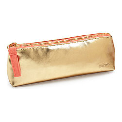 000320 Chit Shing PVC Products MFY Ltd. - Pencil Pouch Gold - The ultimate travel arrangement for pens and pencils on the go.Ships in: 1-2 business days