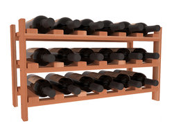 Wine Racks America - 18 Bottle Stackable Wine Rack in Premium Redwood, (Unstained) - Expansion to the next level! Stack these 18 bottle kits as high as the ceiling or place a single one on a counter top. Designed with emphasis on function and flexibility, these DIY wine racks are perfect for young collections and expert connoisseurs.