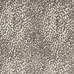 Black And White Leopard Microfiber Stain Resistant Upholstery Fabric By The Yard - Microfiber fabric is the premier choice for indoor upholstery. This fabric is stain resistant, soft and incredibly durable. Plus it is easy to clean and made in America! Microfiber is excellent for residential, commercial and automotive upholstery.