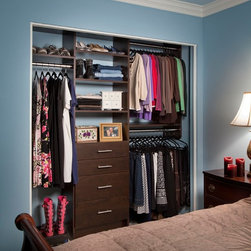 Closets by Organizers Direct - Modern front drawers in coco.