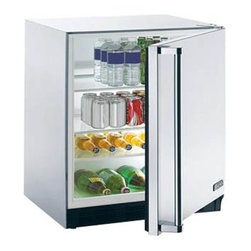 Lynx - Lynx Outdoor Refrigerator Multicolor - L24REF - Shop for Compact from Hayneedle.com! Whether you've got a full bar on your patio or you just want a handy space to store a few cold ones the Lynx Outdoor Refrigerator is a smart choice. UL-listed for outdoor use this refrigerator has a 5.5-cubic foot capacity. The seamless stainless steel cabinet and door are built for the outdoors and inside you'll find four tempered glass shelves with eight positions in all. There's even an interior light and adjustable temperature control. So much for trudging inside to grab another beer.About Lynx Professional GrillsWhen it began in 1996 Lynx Professional Grills was committed to offering grills that elevated the outdoor cooking experience to new levels. Since then the company has expanded its offerings to a full range of outdoor living products including side burners cocktail stations refrigerators and more. Since its founding Lynx has set an industry standard for innovation engineering and design. Consumers prize the easy-to-clean specially welded stainless steel which endures under the harshest of outdoor conditions and delivers restaurant-quality design right to your home patio.