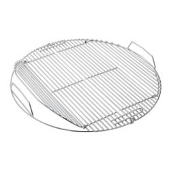 Rosle - Rosle Grill Grate for Charcoal Kettle Grill - 24 in - This hinged grate easily allows a cook to put in extra charcoal or even move charcoal around while still cooking food, an absolute necessity when slow cooking. The grid easily folds up for removal for easy cleaning in the sink. To be used on the Charcoal Kettle Grill - 24 in diameter, model#25004. Weight 3 lbs.