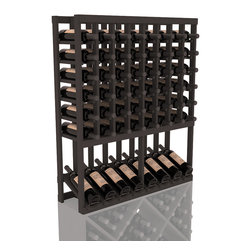 Wine Racks America - High Reveal Wine Rack Display in Pine, Black Stain - A highly decorative wine rack with all the elegance and functionality a wine enthusiast could want. Emphasize your favorite wine bottles with display rows and capture onlookers with dramatic lighting assemblies. The full beauty of this rack is maximized paired with any member from our wine rack family.