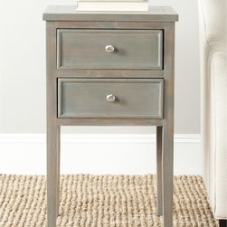 Safavieh - Toby Ash Grey End Table - Inspired by the straightforward lines of craftsman style, the Toby end table in ash grey elm wood is pretty and practical.