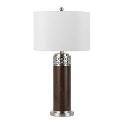 Cal Lighting - Cal Lighting BO-2234 Table 100 W 3 Way Morro Metal  Table Lamp With 1W Led - 100W 3 Way Morro Mtl Table Lamp W/1W LED
