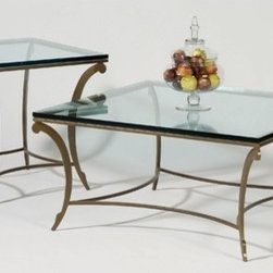 """Johnston Casuals - David Square Coffee Table Set - Featuring quaint traditional designs rendered in distinctive modernistic elements, the David Square coffee table Set is sure to become a cherished favorite in your space. With glass table tops, this contemporary coffee table set is versatile enough to match any dcor. Individually hand-made in Johnston Casuals' USA factory, you can be sure this coffee table set will provide years of lasting quality and aesthetic appeal. coffee table Set Features: -Individually hand-crafted in the USA. -High quality powder-coat metal construction. -Glass table tops. -Quaint traditionally inspired contemporary designs. -10-Year structural failure warranty on metal frames. Item dimensions: -End table dimensions: 24"""" H x 24"""" W x 24"""" D. -Coffee table dimensions: 18"""" H x 38"""" W x 38"""" D. -Console table dimensions: 30"""" H x 54"""" W x 18"""" D. More customization options may be available for an additional charge. Also, please be aware that as each item is created individually, slight variations in finish and shape may occur. Why Choose Johnston Casuals? Superior Quality, American-Made Durability: All Johnston Casuals furniture is hand-made from high-quality materials right here in the USA. Commercial-grade and tested tough, no one does it better. Superior welding techniques and unwavering attention to detail ensure that every piece is built to last! Unrivaled Selection, Creative Design Solutions: Johnston Casuals makes it a snap to create style solutions that are uniquely you. Keep it simple or mix and match across a wide range of attractive contemporary designs. Life is always better with options! Eco-Friendly Products, Effortless Style: At Johnston Casuals, they strive to protect the environment and produce beautiful and eco-friendly products. From recycling factory materials to using only EPA-certified landfill-safe chemicals, Johnston Casuals continues to explore new ways to protect and respect the environment. After all, nature is the mother of"""