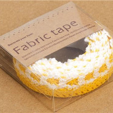 Home Decor yellow-white crocheted Fabric Deco Tape