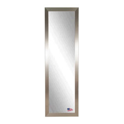 Rayne - Silver Grande Body Wall Mirror - V002TS - Shop for Mirrors from Hayneedle.com! Simple in design and grand in scale the Silver Grande Body Wall Mirror lends sophisticated glamour to any room. The soft gleam of the silver finish lends contemporary charm. This mirror includes installation hardware for vertical or horizontal hanging. You may also simply lean it against a wall.Size Options:20W x 59H in.25W x 63H in.About Rayne MirrorsRayne Mirrors are all handcrafted in the USA. This debt-free company is family-owned and based in Eminence Missouri. They strive to provide the best in quality framing for any type of home decor need. Rayne Mirrors creates framed wall mirrors with a focus on detail quality and style. They work with local and nationwide artists to create on-trend mirrors for any setting. This company showcases a time honored tradition of incorporating the family name Ray throughout every generation. The newest generation lends her name Rayne to the business displaying an extension of the family and showing their commitment to treating customers like family.