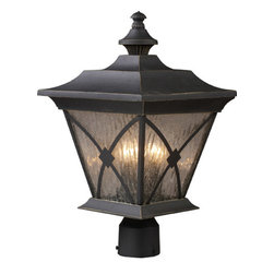 ELK Lighting - ELK Lighting 42124/1 Rutland Square 3 Light Post Lights & Accessories in Hazelnu - This 3 light Outdoor Post Light from the RUTLAND SQUARE collection by ELK will enhance your home with a perfect mix of form and function. The features include a Hazelnut Bronze finish applied by experts. This item qualifies for free shipping!