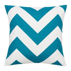 Look Here Jane, LLC - Zippy Aquarius Blue Pillow Cover - PILLOW COVER
