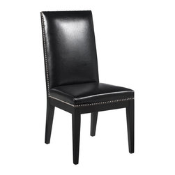 Sunpan - St. Tropez Bonded Leather Dining Side Chair - Set of 2 - SUNP255 - Shop for Dining Chairs from Hayneedle.com! Like a little black dress for your dining table the St. Tropez Bonded Leather Dining Side Chair - Set of 2 is sleek sexy and is perfect for every occasion. Luxe bonded leather upholstery adorns the cushioned seat high backrest and is finished with silver nailhead trim.About SunpanSunpan is a global furniture company. They specialize in designing and manufacturing contemporary- and transitional-style furnishings. Sunpan takes pride their designs which reflect international trends in fashion and interior design. Sunpan is the ideal choice for your modern home.