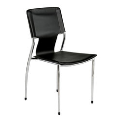 Euro Style - Euro Style Terry Side Chair Set of 4 04411 - Besides a strong steel frame and comfortable leatherette seat and back, the Terry chair has a wonderful approach to back support. The carefully curved steel back support has just the slightest give to add major comfort while adding just the right subtle touches for line and movement in your home.