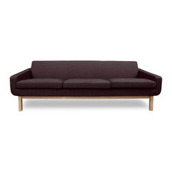STUDIO COPENHAGEN - Richmond Coffee 3-Seat Sofa - The Richmond Dark-Grey 3 Seat Sofa offers simple lines and a thoroughly Scandinavian feel. With great emphasis on comfort and a solid ash frame, the Richmond Sofa is as strong and comfortable as it is aesthetically pleasing.