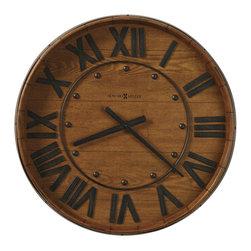 Howard Miller - Howard Miller Wine Barrel Gallery Wall Clock Finish - Howard Miller - Wall Clocks - 625453