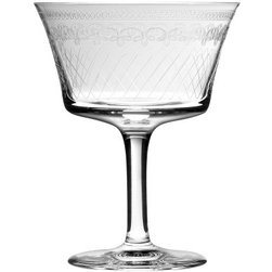 """Urban Bar - Retro Fizz Cocktail/wine Glass Set of Two - Retro Fizz cocktail/wine glass measures 4.7"""" tall.  Made in Eastern Europe by Urban Bar. Sold as a set of two."""