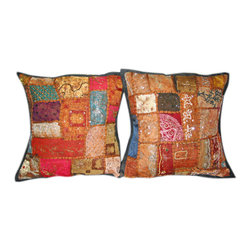 Decorative Cushions - Make your home royal and stylish look with these decorative cushions with matching sari tapestry