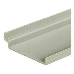 "Storewall - Shelf w/Endcaps, 5"" X 48""L - 48"" custom cut thermal plastic shelf with built in mounting bracket. Endcaps installed"