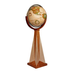 Replogle - Obelisk Floor World Globe - The Obelisk floor globe is inspired by one of Frank Lloyd Wright designs.