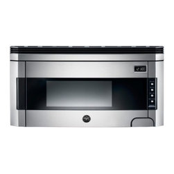 """Bertazzoni - KO30 PRO X Design Series  30"""" 1.5 Cu. Ft Capacity  1000 Watt Over-the-Range Micr - This15 cubic-foot microwave is cleverly designed to be located above the cooktop or range saving countertop space and acting as a ventilation hood as well Styled to match with Bertazzoni built-in Design Series and Professional Series it is finished i..."""