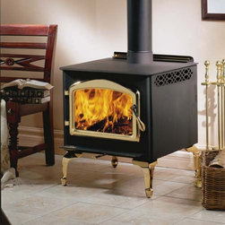 Napoleon - Napoleon Small Wood Stove with Legs Multicolor - 1100PL-H222-200K-EPAD-1K - Shop for Fire Places Wood Stoves and Hardware from Hayneedle.com! You'll look forward to cool fall days and any excuse to enjoy the Napoleon Small Wood Stove with Legs. Beautifully crafted from strong and durable steel with an elegantly curved door this wood stove is both sophisticated and functional. Able to burn up to seven hours and heat up to 1600 square feet this gorgeous wood stove will keep you and your loved ones warm for hours. Its 1.7 cubic square foot firebox is able to hold logs up to 18-inches long. Airwash technology combined with the heat keeps the large viewing glass clean so you can enjoy watching your fire burn through the night. This wood burning stove includes a rear shield with a hot air circulation deflector and optional ash tray. Aesthetic and practical you'll find yourself looking forward to cold days that are perfect for lighting and enjoying a fire all winter long. Additional Features Can heat 600-1600 square feet Approved for use in a mobile home Up to 55000 BTU's on high burn Firebox holds up to 1.7 cubic square feet Beautiful large viewing area Elegant arched cast iron door Easily adjustable heat with single lever burn control Rear shield with hot air circulation deflector Airwash technology and high heat cleans glass Optional ash tray Beautifully curved legs Your choice of beautiful door designs and leg styles EPA certified Use of a professional installer is recommended to ensure the safety of the exhaust system. About NapoleonNapoleon got its start in 1976 as a steel fabrication business launched by Wolfgang Schroeter in Barrie Ontario Canada. Solid cast iron two-door stoves were became a single glass door model with Pyroceram high-temperature ceramic glass. In 1981 the name Napoleon was coined for their items. Over the years Napoleon has led the way with innovative engineering and design. They are now North America s largest privately owned manufacturer of quality wood and gas fireplaces gourmet gas and charcoal grills outdoor living products and heating and cooling products.