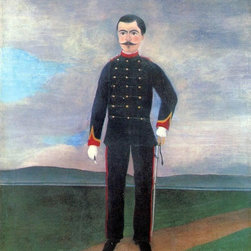 """Henri Rousseau Portrait of Frumence Biche in Uniform   Print - 16"""" x 20"""" Henri Rousseau Portrait of Frumence Biche in Uniform premium archival print reproduced to meet museum quality standards. Our museum quality archival prints are produced using high-precision print technology for a more accurate reproduction printed on high quality, heavyweight matte presentation paper with fade-resistant, archival inks. Our progressive business model allows us to offer works of art to you at the best wholesale pricing, significantly less than art gallery prices, affordable to all. This line of artwork is produced with extra white border space (if you choose to have it framed, for your framer to work with to frame properly or utilize a larger mat and/or frame).  We present a comprehensive collection of exceptional art reproductions byHenri Rousseau."""