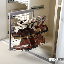 Three Tier Pull out Shoe Rack - Soft Close -