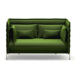 Vitra - Vitra Alcove Two-Seater, Laser Green - A sofa can go beyond being merely a piece of furniture and become a room of its own within a room ? this was the idea that prompted Ronan and Erwan Bouroullec to design Alcove Sofa. With its unusually soft seat and backrest upholstery, as well as the high, flexible side and back panels, Alcove Sofa creates the frame for such a comfy, safe and secure world, a place for relaxed withdrawal from the hustle and bustle of life: Two people can stretch out and sit opposite each other, leaning leisurely back against the side walls, and if required the sofa also provide sufficient space for a third person. Alcove Sofa combines the contrasting qualities of a comfortable secluded relaxation area with an open invitation to enter and sit down.