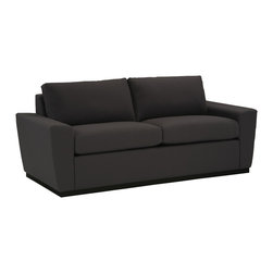 Lazar Industries - Geo 2-Seater Sofa in Nato Charcoal - Geo 2-Seater Sofa by Lazar Industries offers exceptional style and comfort with track arms and exquisite tailoring.