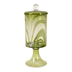 IMAX CORPORATION - Brockton Hand Made Glass Drink Dispenser - Functional art glass is handmade and blown with inspiration from grassy summer days in a subtle shade of green. Perfect for summertime fresh squeezed lemonade or a glass of iced tea!. Find home furnishings, decor, and accessories from Posh Urban Furnishings. Beautiful, stylish furniture and decor that will brighten your home instantly. Shop modern, traditional, vintage, and world designs.