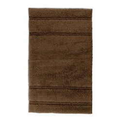 "Garland Rug - Bath Mat: Accent Rug: Majesty Cotton Chocolate 24"" x 40"" Bathroom - Shop for Flooring at The Home Depot. Add elegance and beauty with Majesty Cotton Bath Rugs. Soft cut pile plush 100% U.S. Cotton in an elegant and modern stripe pattern will go with any bathroom design. Proudly made in the USA."