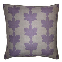 Squarefeathers - Heather, Clover Pillow - Full of different shades of purple, the Heather pillow collection is eye catching and beautiful! Made of faux linen with a grey rope trim. It has a soft and pump feataher/down insert inclosed with a zipper. Like all of our products, this pillow is handmade, made to order exclusively in our studio right here in the USA.