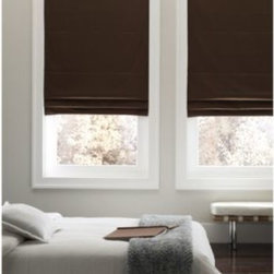 Real Simple - Real Simple  Cordless Fabric Roman Shades - These cordless window shades are safe for children and match both traditional and modern decors. The shades feature a blackout lining to block light, create a darker room and provide a better night's sleep.