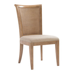 Lexington - Lexington Monterey Sands Los Altos Side Chair (Set of 2) in Sandy Brown - Relaxed neutral backgrounds, a blending of natural materials and light wood tones serve to create an environment that is pleasing to the eye, and the soul. Monterey Sands finds its inspiration in understated West Coast style. Clean architectural lines lend a fresh look to the elegant simplicity of transitional design. Crafted from Grey Elm veneer, pieces are gently wire-brushed to highlight the distinctive grain lines. The sandy brown Cambria finish is rubbed with an oyster white glaze, accentuating the character of the wood and offering a rich compliment to burnished bronze metal accents.