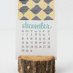 Wood Stump Calendar - I am a sucker for a great calendar, and this one is so cute with the bark wood holder and great graphics.