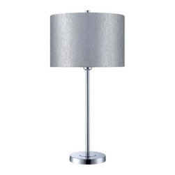 Illumine - Silver Lamp: 1-Light 28 in. Chrome Table Lamp with Silver Fabric Shade CLI-LS-21 - Shop for Lighting & Fans at The Home Depot. The Designer Collection supplied by Commercial Lighting Industries is both modern and stylish, all while maintaining the ability to fuse together many different genres. This collection finds itself at home in many of today s popular design schemes. Whether you re looking for lamps, wall-lighting, pendants, or novelty lamps, the Designer Collection offers a lighting solution that is sure to satisfy any of your lighting needs.