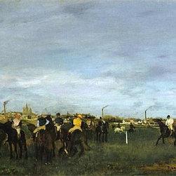 Before the Race, c.1873 | Edgar Degas | Canvas Prints - Condition: Unframed Canvas Print