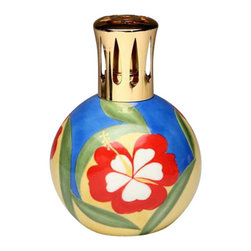 ATD - 5.63 Inch Round Multicolored Hibiscus Flower Design Oil Lamp - This gorgeous 5.63 Inch Round Multicolored Hibiscus Flower Design Oil Lamp has the finest details and highest quality you will find anywhere! 5.63 Inch Round Multicolored Hibiscus Flower Design Oil Lamp is truly remarkable.