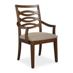 Somerton Home Furnishings - Somerton Claire de Lune Wood Back Arm Chairs - American Cherry - Set of 2 Multic - Shop for Dining Chairs from Hayneedle.com! These Claire de Lune Wood Back Arm Chairs American Cherry are perfectly suited to accent a Claire de Lune table or a wide variety of other designs. Each features hardwood construction a rich wood finish and versatile vanilla cream upholstery. Pair them on your own or add to a Somerton Claire de Lune collection dining table. The Claire De Lune collection from Somerton is a truly tremendous achievement in transitional style. Balancing the old with the new with aplomb and ease seen nowhere else these pieces are built of American cherry with cherry and walnut veneers with inlaid geometric patterns and stylish silver hardware. The lines are soft and sweeping but the upgrades are serious full-extension drawer glides English dovetails stained and finished inside birch drawers and built-in plugs. To clean use only a dry or damp cloth no oil-based cleaners. About Somerton Home FurnishingsFor over 20 years Somerton has meant quality furniture and a quality company. Its warehouses and distribution centers located both in the United States and China provide environmentally friendly manufacturing locations as well as mindful employment spaces. Top-of-the-line materials such as eco-friendly rubberwood solid wood and wood veneers are used to create Somerton pieces. Any Somerton furnishing you choose will make a welcome stylish addition to your home.