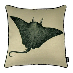 Lava - Sting Ray 18 x 18 Pillow (Indoor/Outdoor) - 100% polyester cover and fill. Suitable for use indoors or out. Made in USA. Spot clean only