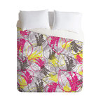 DENY Designs - Rachael Taylor Organic Retro Leaves Duvet Cover - Turn your basic, boring down comforter into the super stylish focal point of your bedroom. Our Luxe Duvet is made from a heavy-weight luxurious woven polyester with a 50% cotton/50% polyester cream bottom. It also includes a hidden zipper with interior corner ties to secure your comforter. it's comfy, fade-resistant, and custom printed for each and every customer.