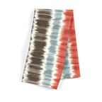 "Aqua & Red Ikat Stripe Custom Napkin Set - Our Custom Napkins are sure to round out the perfect table setting""""_whether you're looking to liven up the kitchen or wow your next dinner party. We love it in this modern ikat stripe of cherry red, charcoal gray & aqua blue on ivory cotton."