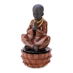 Koolekoo - Sitting Monk Treasure Box - No one will guess that beneath this stunning statue, a stash of treasures lies safely hidden away. This combination decoration handsomely stores your favorite memorabilia!