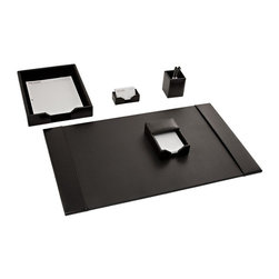Dacasso Limited Inc - Dacasso Econo-Line Black Leather 5-Piece Desk Set - D1402 - Shop for Desk and Drawer Organizers from Hayneedle.com! About Dacasso Limited Inc.Located in Gainesville Florida Dacasso offers quality desk sets and unbeatable customer service. Dacasso manufactures leather and wood desk accessories and their product line ranges from complete leather desk sets that perfectly present a professional look to leather calendar holders that provide organization for day-to-day responsibilities. A company that believes in its products and service Dacasso guarantees your satisfaction.