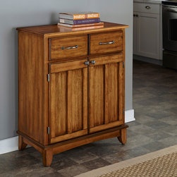 None - Cottage Oak Buffet with Wood Top - This Home Styles small server is constructed of hardwood and wood products in a cottage oak finish with an oak wood top. This furniture is perfect for any home or office decor.